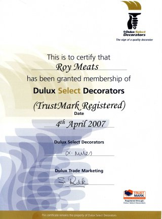 Roy's Select Decorator certification 2007